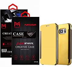 Margoun for Samsung Galaxy S6, G920FD, G920I, G9208 Flip Mirror Case Cover, Quick access to front and rear camera - Gold