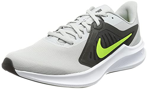 Nike Downshifter 10, Zapatillas para Correr Hombre, Grey Fog/Volt-Black-White, 46 EU