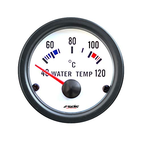 Simoni Racing Spa WT/W Électrique Jauge de Température de l'eau avec Capteurs, Blanc Background