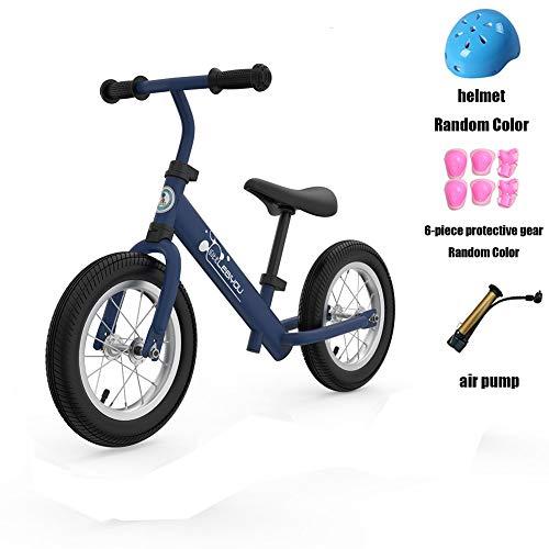 ZUOQUAN Kinder Laufrad, Lauflernrad Balance Fahrrad Ohne Pedale Dreirad Spielzeug, Für 1-3 Jahr, Empfohlenes Alter: 36-72 Monate, Erstes Baby Laufrad Für Jungen Mädchen, Lauflernrad 2 Rädern,Blue2
