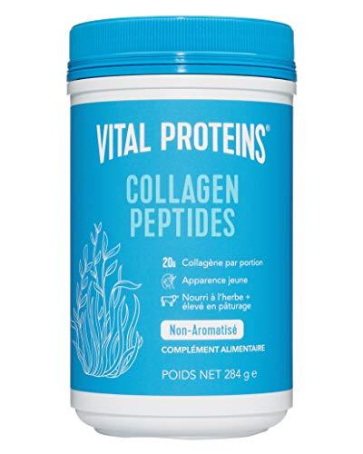 Vital Proteins Collagène de Poudre, Complément Alimentaire de Peptides, Collagène Bovin, Hydrolysé et Sans OGM, Produits Laitiers ni Gluten, Saveur Neutre, 284 g