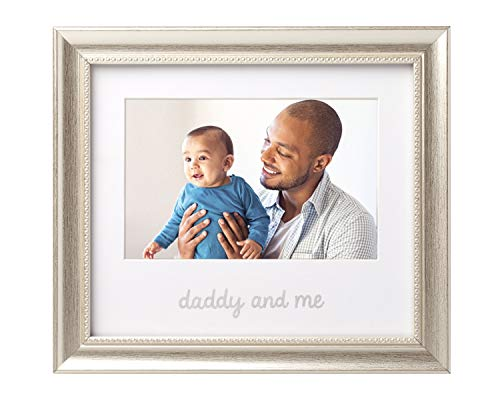 Lil Peach Daddy and Me Keepsake Frame, Fathers Gift to Dad from Daughter or Son, Dad Birthday Gift Ideas, Silver
