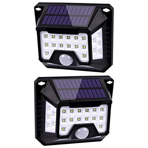 Luz Solar Exterior 32 LED HIFAIRY 270°Iluminación Foco Solar Potente con Sensor de Movimiento Impermeable Lámpara Solar para Jardín Camino