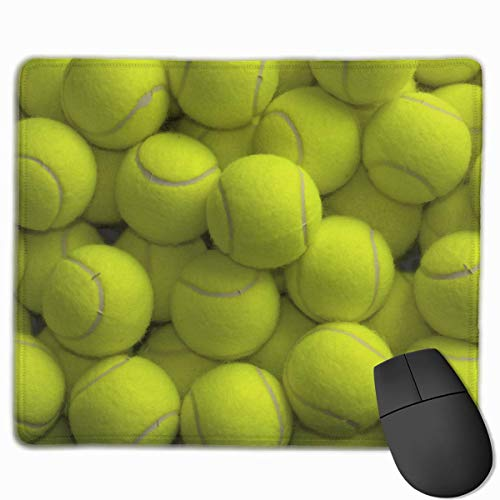 Tennis Balls Mouse Pad, Premium Rectangle Gaming Mouse Pad with Non-Slip Rubber Base
