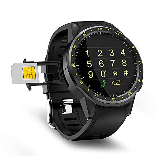 ZUZEN F1 Sport Smart Watch mit GPS-Kamera Unterstützung Stoppuhr Bluetooth Smartwatch SIM-Karte Armbanduhr für Android IOS Phone,Black