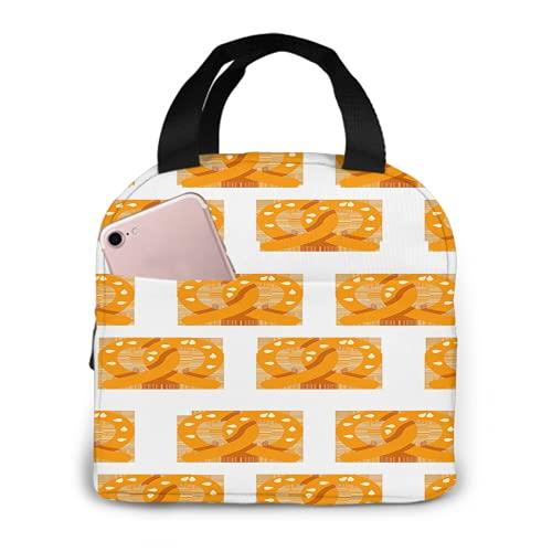 Pretzels Pattern 76 - Bolsa de almuerzo con aislamiento portátil, impermeable, bolsa aislada para picnic, viaje, comida