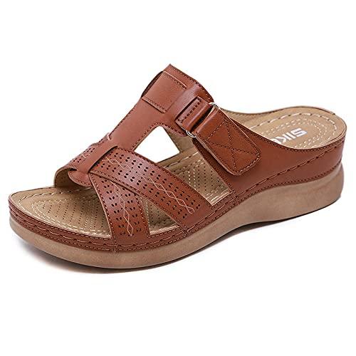 Kirin-1 Zapatillas De Casa para Mujer Verano,Zapatillas De Novia,Sandalias Antideslizantes De Moda,...
