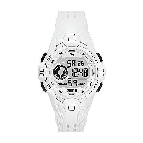 Puma Reloj de Pulsera para Hombres, Blanco P5039
