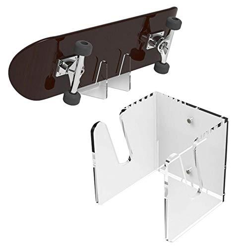 Skateboard Wandhalter Display Rack Longboard Skateboard Kleiderbügel Wandhalterung Acryl Wandaufbewahrung Skateboardständer Unsichtbarer klarer Wandhalter