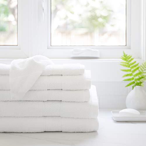 Juego de 6 toallas de baño de lujo por Hasen Hotel | 100% algodón puro, calidad de spa absorbente | 2 toallas de baño, 2 toallas de...