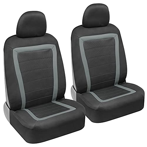 carXS FreshMesh Car Seat Covers for Front Seats – Gray Mesh Car Seat...