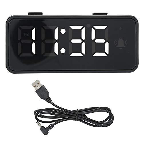 WEILafudong Despertador digital, reloj digital LED para el hogar, reloj despertador electrónico para dormitorio, reloj compacto para dormitorio, mesita de noche