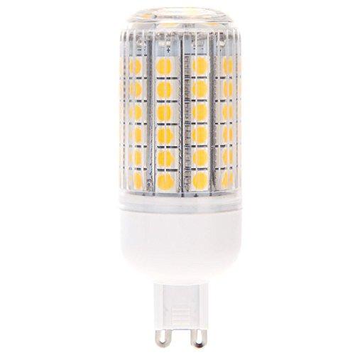 TOOGOO(R) G9 15W 5050 SMD 69 LED lampada a risparmio energetico a risparmio energetico a 360 gradi Gasa coperta bianca calda 220 - 240V