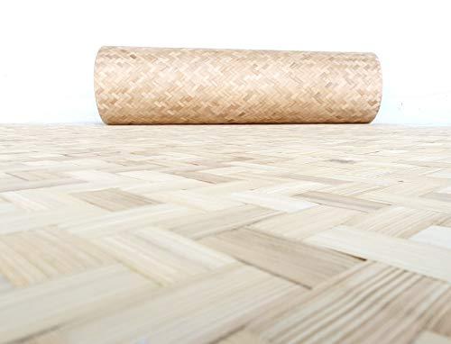 Bambusflechtmatte 240 x 120 cm - verleimte Bambus Fasermatte als Innenraumdekoration oder Wandverkleidung