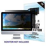 24''W Inch Privacy Screen Filter for Desktop Computer Widescreen Monitor - Anti-Glare, Blocks 96% UV,Anti-Scratch with 16:9 Aspect Ratio