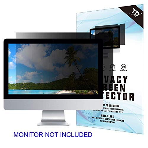 21.5''W Inch Privacy Screen Filter for Desktop Computer Widescreen Monitor - Anti-Glare, Blocks 96% UV,Anti-Scratch with 16:9 Aspect Ratio