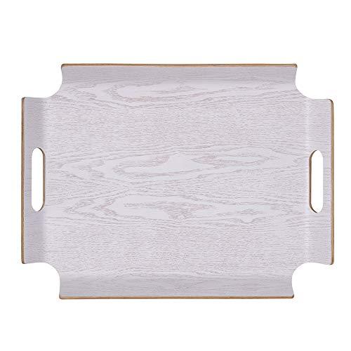 Table Passion - Plateau rectangle 44.5 x 34 cm No Angle blanc