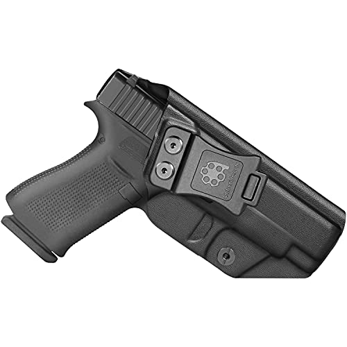 Amberide IWB KYDEX Holster Compatible with Glock 48 Pistol | Inside Waistband | Adjustable Cant | US KYDEX Made (Black, Left Hand Draw (IWB))