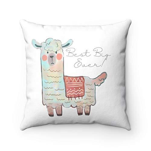 DKISEE Funda de almohada cuadrada de lino de algodón de 50,8 cm, suave funda de cojín, regalo de Sorority Big Lama