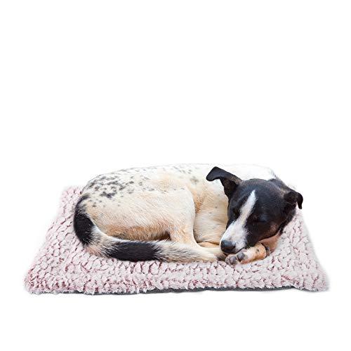 Voopet - Manta de cama para perros y gatos, forro de cama reversible para mascotas, lavable a máquina y seco, cojín de felpa suave ideal para jaula de transporte de mascotas
