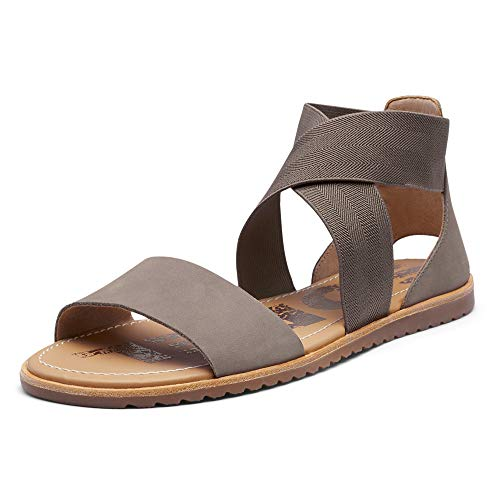 Sorel Women's Ella Sandals, Ash Brown, 9.5 Medium US