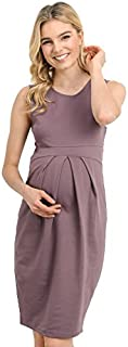LaClef Women's Knee Length Midi Maternity Dress with...