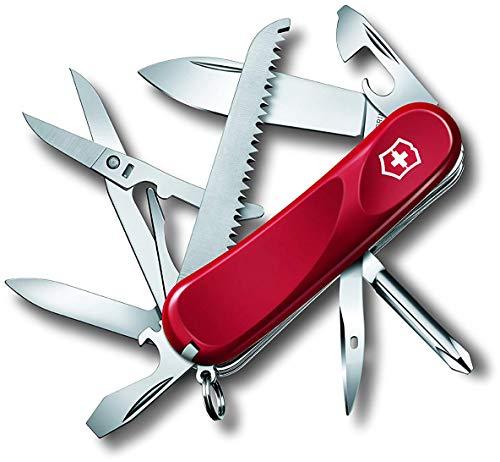 Victorinox Taschenmesser Evolution 18 (15 Funktionen, Ergonomisch, Klinge, Nagelfeile) rot