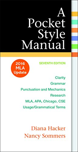 A Pocket Style Manual: 2016 MLA Update