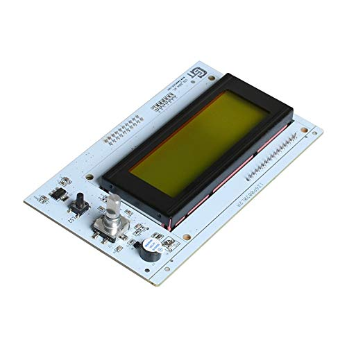 MZHE 3D LCD Display LCD2004 Non-integrated Display (new) For New Version A10 3d Printer Suitable for most printers, making your printer q (Color : White)