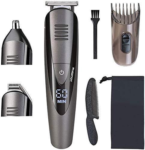 Solimpia Haarschneidemaschine Herren Haarschneider Bartschneider Haarschneider Männer Pro Haarschneidemaschine Rasieren Haartrimmer Nasentrimmer Akku- und Netzbetrieb Wasserdichter USB Wiederaufladbar