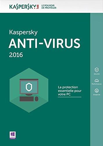 Kaspersky Anti-Virus 2016 - 5 postes - 1 an [Téléchargement PC]