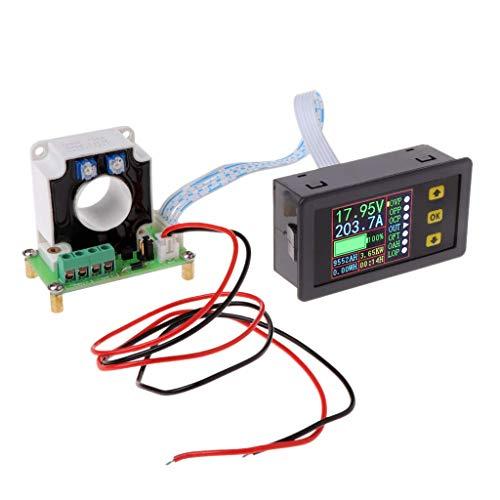 DollaTek Digital DC Multimeter 0-90V 100A Voltmeter Amperemeter Strom Amp Leistung Watt Kapazität Zeitmesser Batterietester Monitor mit LCD-Bildschirm Hall-Sensor 12V 24V 30V 48V 60V 80V Spannung