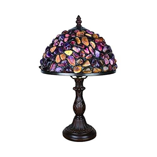 Lámpara de Mesa, Cristal Manchada Lámpara Lámpara de mesa, mini lámparas lámparas de mesa de 8 pulgadas, lujosas piezas de cristal coloridas lámparas de vidrio para sala de estar dormitorio junto a la