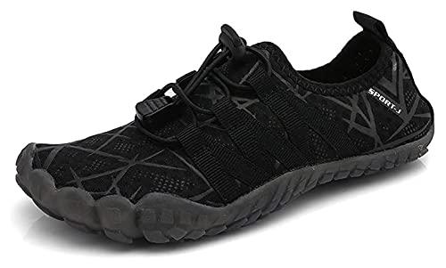 ZKDY Zapatos de Agua de Secado rápido Antideslizantes de Verano adecuados para niños y niñas, niños y Chicas Calcetines de Agua Zapatos de Playa (Color : Black, Size : 35EU)