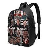 Vampire Diaries Originals Klaus Mikaelson Backpack Laptop Daypack with Usb Charging Port Business Casual Backpack for Travel Hiking Vampire Merch School Bookbag Gifts