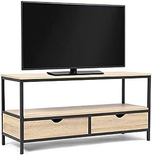 IDMarket - Meuble TV Detroit 2 tiroirs Design Industriel