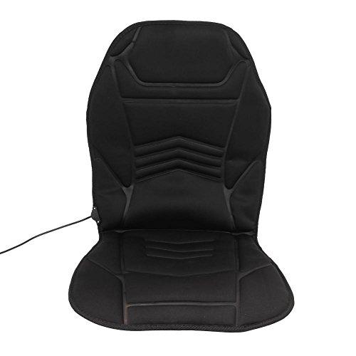 HUANGHUANG Sitzheizung Auto Heizkissen 12V Beheizte Sitzauflage mit Zeit Temperatur Kontrolleur Universal Vordersitz Heizauflage schwarz für Auto Haus