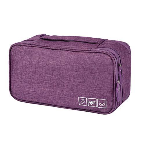 TOPBATHY - Bolsa de Almacenamiento para Sujetador, lencería, portátil, Bolsa de Aseo Impermeable para Viajes al Aire Libre