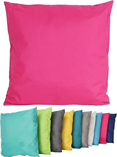 Coen Bakker Outdoor Lounge Kissen 45x45cm Dekokissen Wasserfest Sitzkissen Garten Stuhl Lotus Effekt, Farbe:Pink