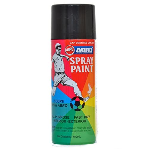 638d7633cc1 Abro SP-4 Multipurpose Colour Spray Paint Can for Cars and Bikes (Matt Black