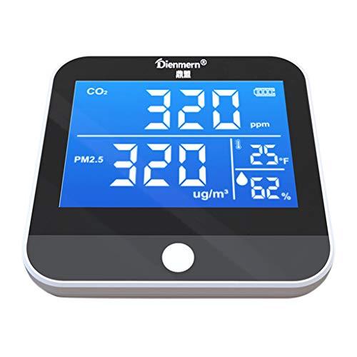 JIABAN Digitaler tragbarer CO2-Detektor PM2.5 Temperatur- und Luftqualitätsmonitor NDIR