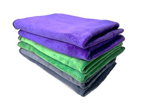 Premium Microfiber Towel Professional Detailer Grade Express PAKS Car Wash Towel (Pack of 3) 16' x 24'