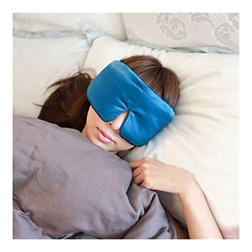 WeiCYN Extra großer Dick 100% Seide Schlafaugenmaske Silk Augenmaske Augenabdeckung eyeshade Shade Silk Augenmaske Schlafen (Color : Peacock Blue)