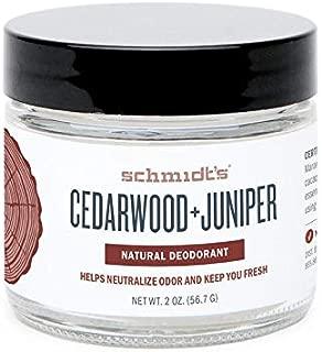 Schmidt's Natural Deodorant, Cedarwood + Juniper, 2 Ounce