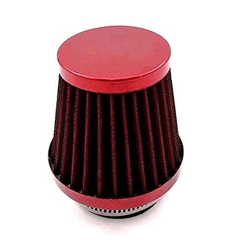 YYCHER Limpiador de filtro de aire de 54 mm para motocicleta Cruiser Chopper Dirt Bike Scooter Offroad ATV Dual Sport Bike (Color: Rojo) (Color: Rojo)