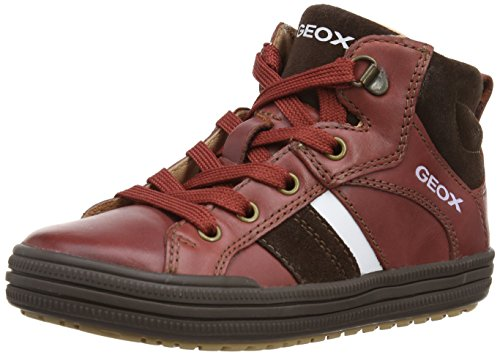 Geox Jungen Elvis E Sneaker, Rot (Dark Red), 34 EU