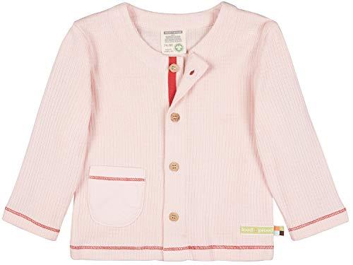 loud + proud Jacke Waffel, GOTS Zertifiziert Giacca, rosé, 122 cm-128 cm Unisex-Bambini