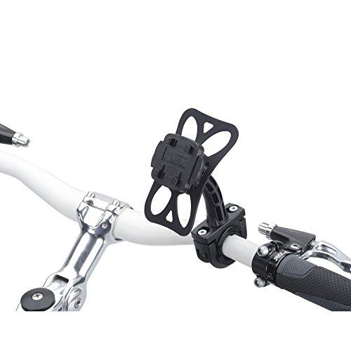 Smart Planet Soporte de bicicleta/motocicleta/bicicleta soporte para Teasi one, Teasi one²/Teasi one 23, Teasi Pro y Smar.T Powerbank (goma Restos de antivibración, con Bien durchdachtem Quickfix Sistema de–color: negro)