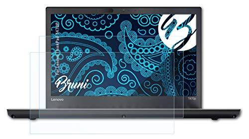 Bruni Schutzfolie kompatibel mit Lenovo ThinkPad T470P Folie, glasklare Bildschirmschutzfolie (2X)