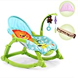 SHARESUN Silla de balancín para bebés, niños pequeños y sillas de balancines para bebés, Asiento de Columpio Compacto para bebés, Adecuado para recién Nacidos y niños pequeños,Blue,M